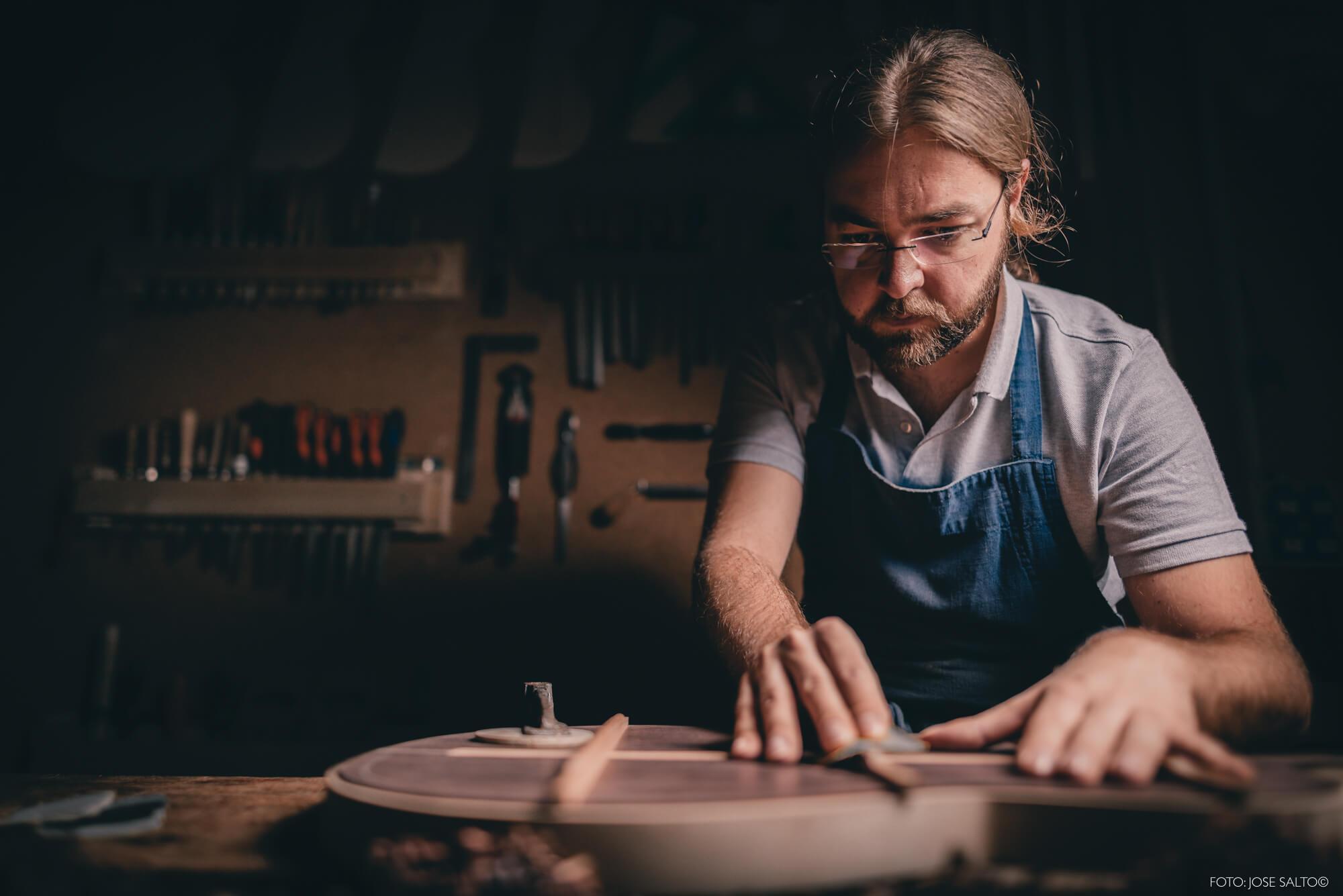 fotografia de luthier