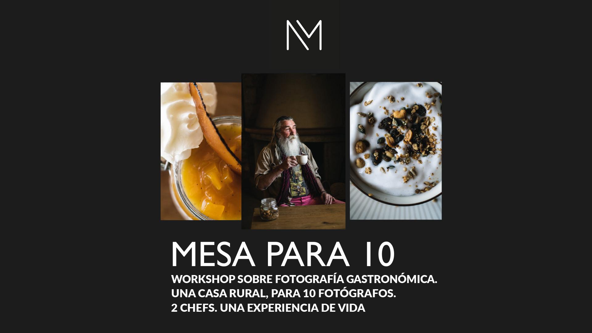 Formacion fotografia gastronomica, workshop foto, one to one, curso foto gastronomica, mesa para 10 curso